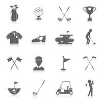 Conjunto de ícones de golfe