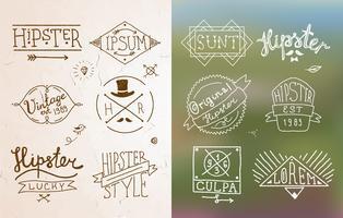 Emblema vintage hipster vetor