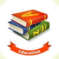 Livro de texto de ícone de educação