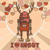 Design de robô hipster