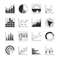Ícones de gráfico de negócios