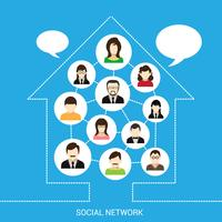 Casa de rede social