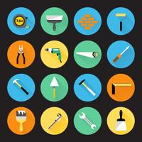 Ícones de instrumentos de construtor vetor