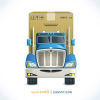 Caminhão de ícone logístico vetor