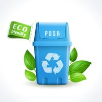 Lata de lixo de símbolo de ecologia