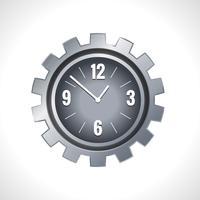 Relógio de engrenagem de metal vetor