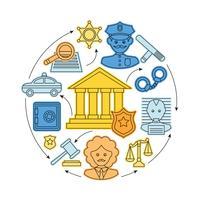 Lei e conceito de justiça vetor