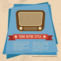 Cartaz de estilo retro
