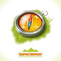 Bússola de símbolo de acampamento