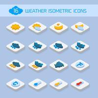 Ícones isométricos de tempo