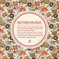 Cartaz de música retrô vetor