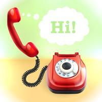 Fundo de telefone estilo retro vetor