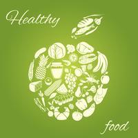 Maçã de comida saudável