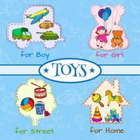 Composição de ícones de brinquedos