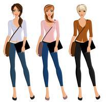 Menina, estudante, retrato, jogo