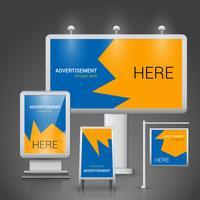Modelo de publicidade ao ar livre vetor