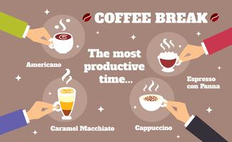 Conceito Coffee break vetor