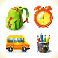 Conjunto de ícones de educação vetor