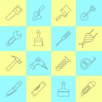 Ícones de ferramentas de reparo em casa vetor
