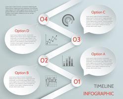 Infográfico de negócios da linha do tempo vetor