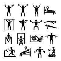 Conjunto de ícones de treino treino