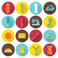 Ícones de equipamento de costura