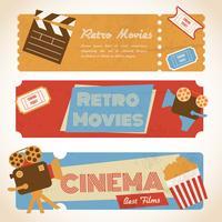 Banners de filmes retrô vetor