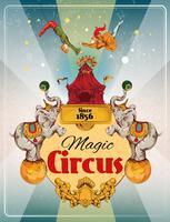 Poster retro de circo