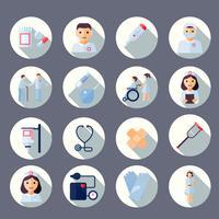 Enfermeira, ícone, jogo vetor