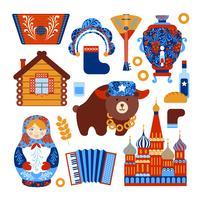 Conjunto de viagem na Rússia vetor
