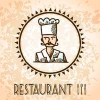 Esboço de cartaz de culinária vetor