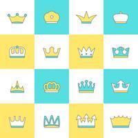 Coroa, ícone, jogo vetor