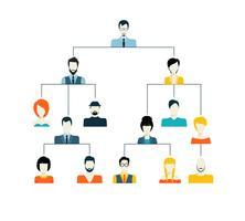 Estrutura de hierarquia de avatar vetor