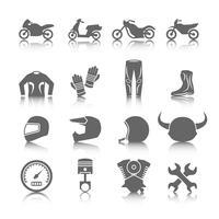Conjunto de ícones de motocicleta vetor