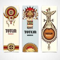Banners tribais verticais vetor