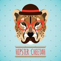Retrato animal hipster