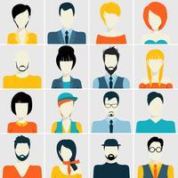 Conjunto de ícones de avatar vetor