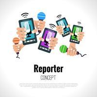 Conceito de jornalista repórter vetor