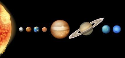 O sistema solar vetor