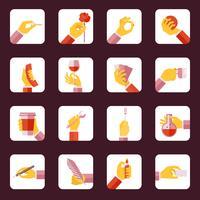 Mão, segurando, objetos, apartamento, jogo vetor