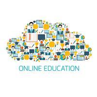 Nuvem de ícones de educação vetor