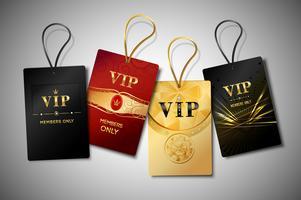 Conjunto de design de tags vip