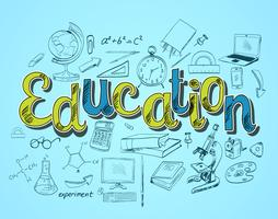 Conceito de ícone de educação