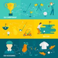 Conjunto de bandeiras de golfe