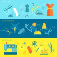 Bandeira de equipamento de costura plana