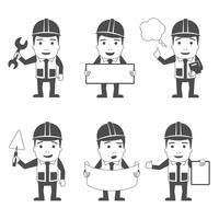 Conjunto de caracteres do construtor preto