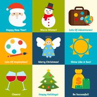 Desejos de Natal ajustados vetor