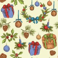 Padrão sem emenda de Natal vetor
