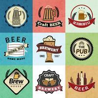 Rótulos retrô de cerveja