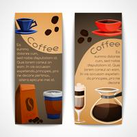 Conjunto de bandeiras de café vetor
